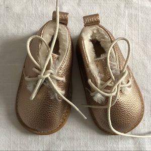 Other - Gold / Rose gold baby shoes